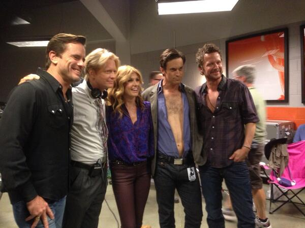 The cast of Nashville hangs out behind the scenes