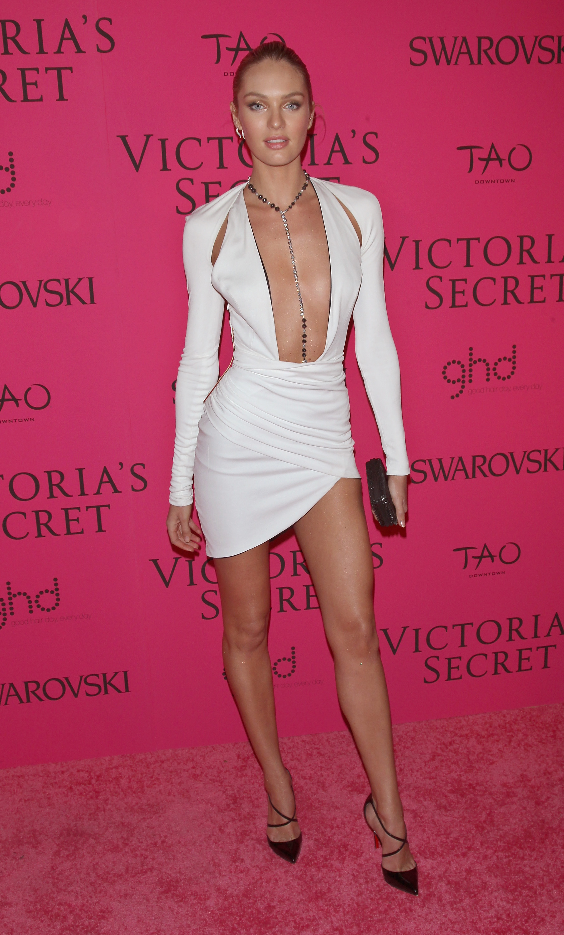 Candice Swanepoel wearing a body chain