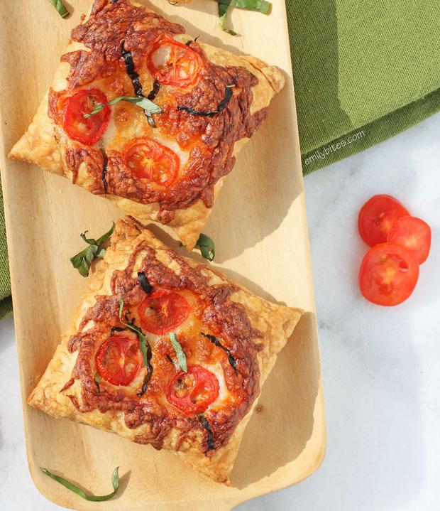 Caprese tarts from Emily Bites