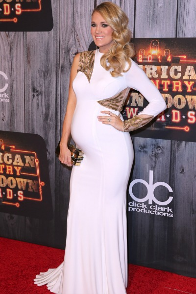 Pregnant Carrie Underwood American Country Countdown Awards