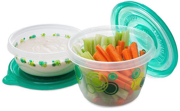Carrot and celery sticks