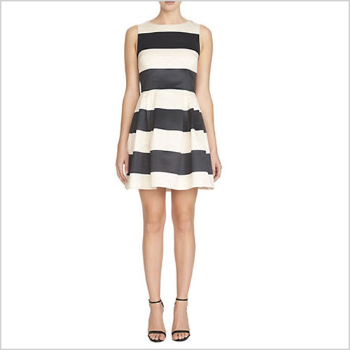Cece by Cynthia Steffe Striped Fit-and-Flare Dress