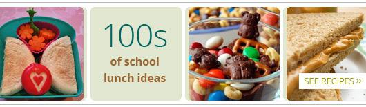 100s of shcool lunch ideas
