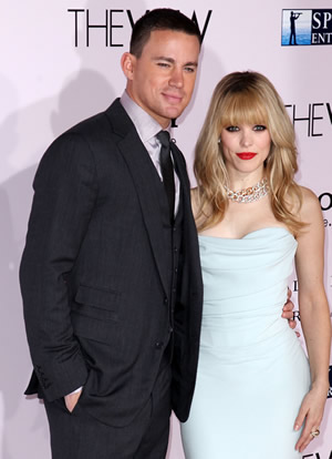 Channing Tatum and Rachel Mcadams at The Vow movie premiere