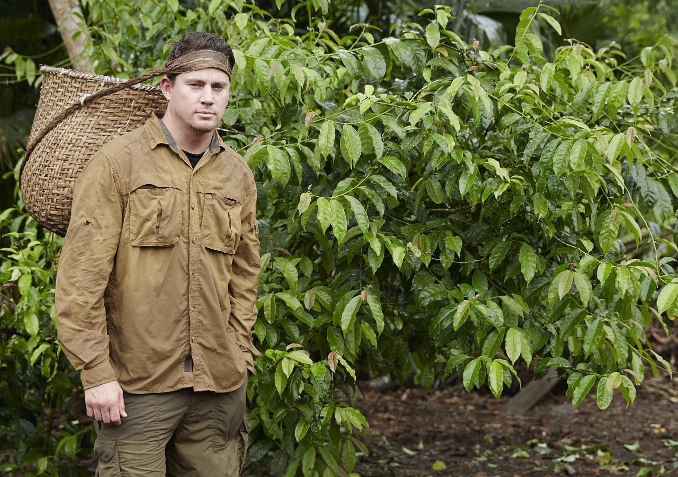 Channing Tatum harvesting in Ecuador