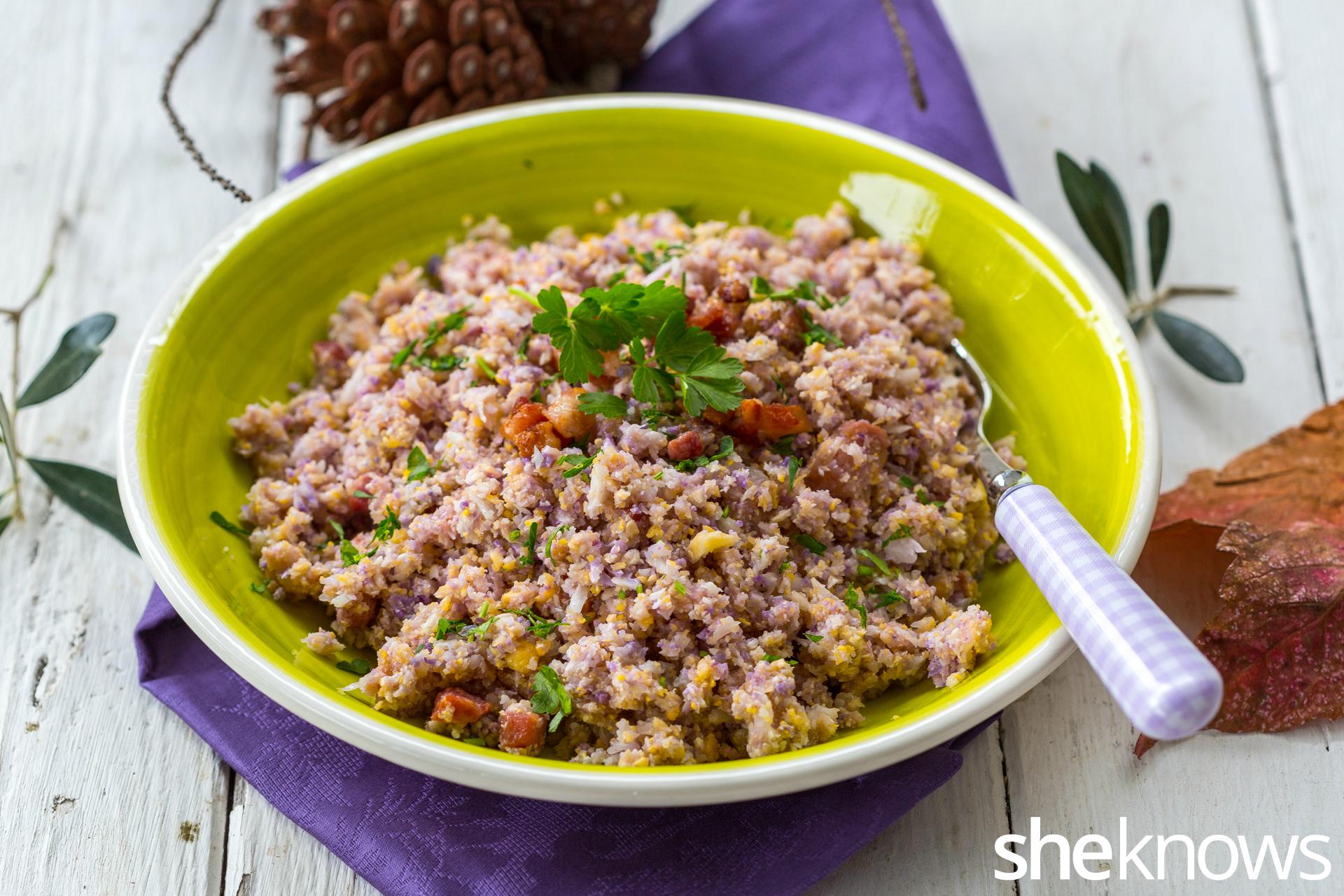 Cheesy-cauliflower-rice-with-bacon 3