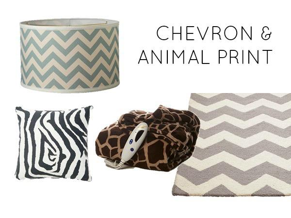 Chevron and animal print