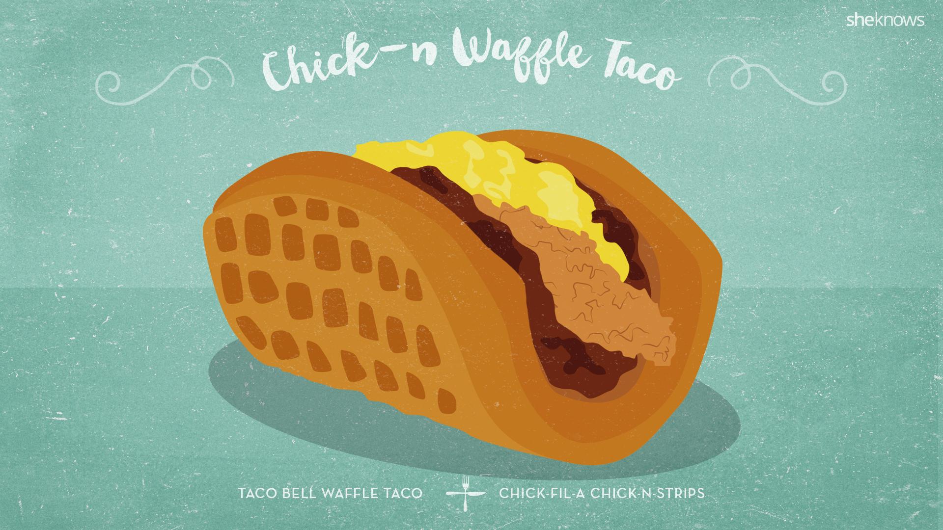 chick-n waffle taco