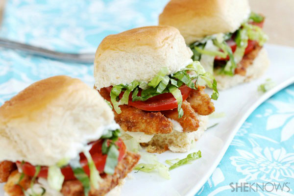 Chicken finger sliders