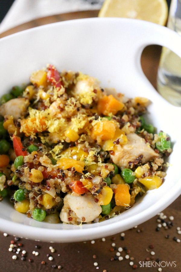 Chicken, squash and quinoa stir fry