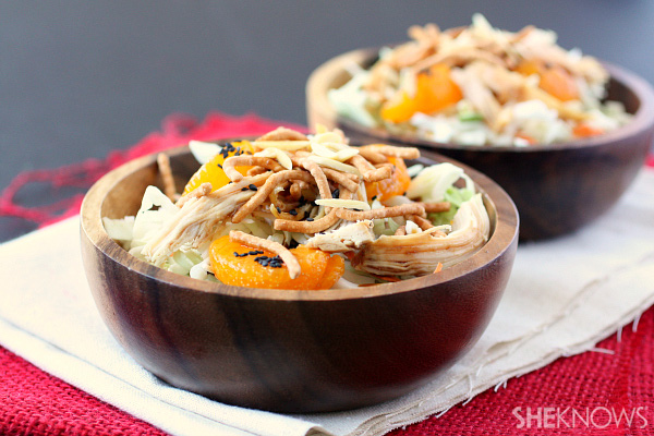 Chinese chicken salad with spicy Asian dressing