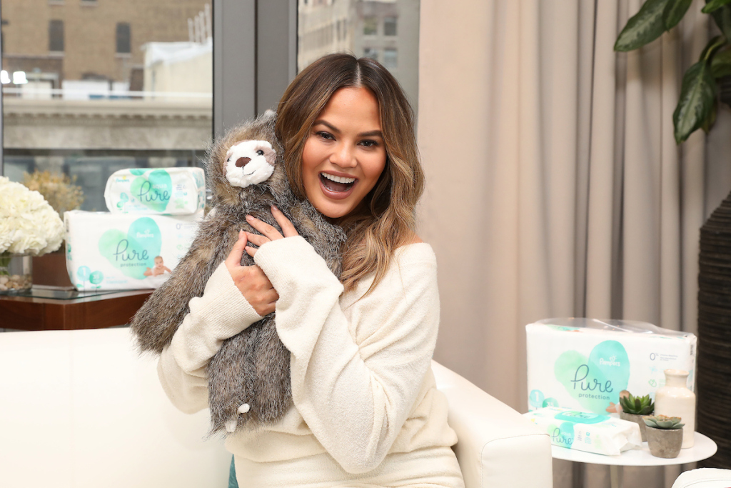 Teigen tells StyleCaster at the launch of Pampers Pure