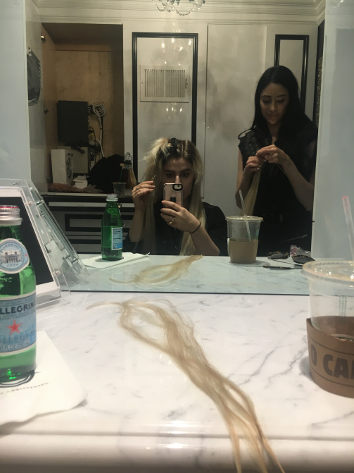 Hair Extensions From the Hair Goddess: Christina's hair in the works
