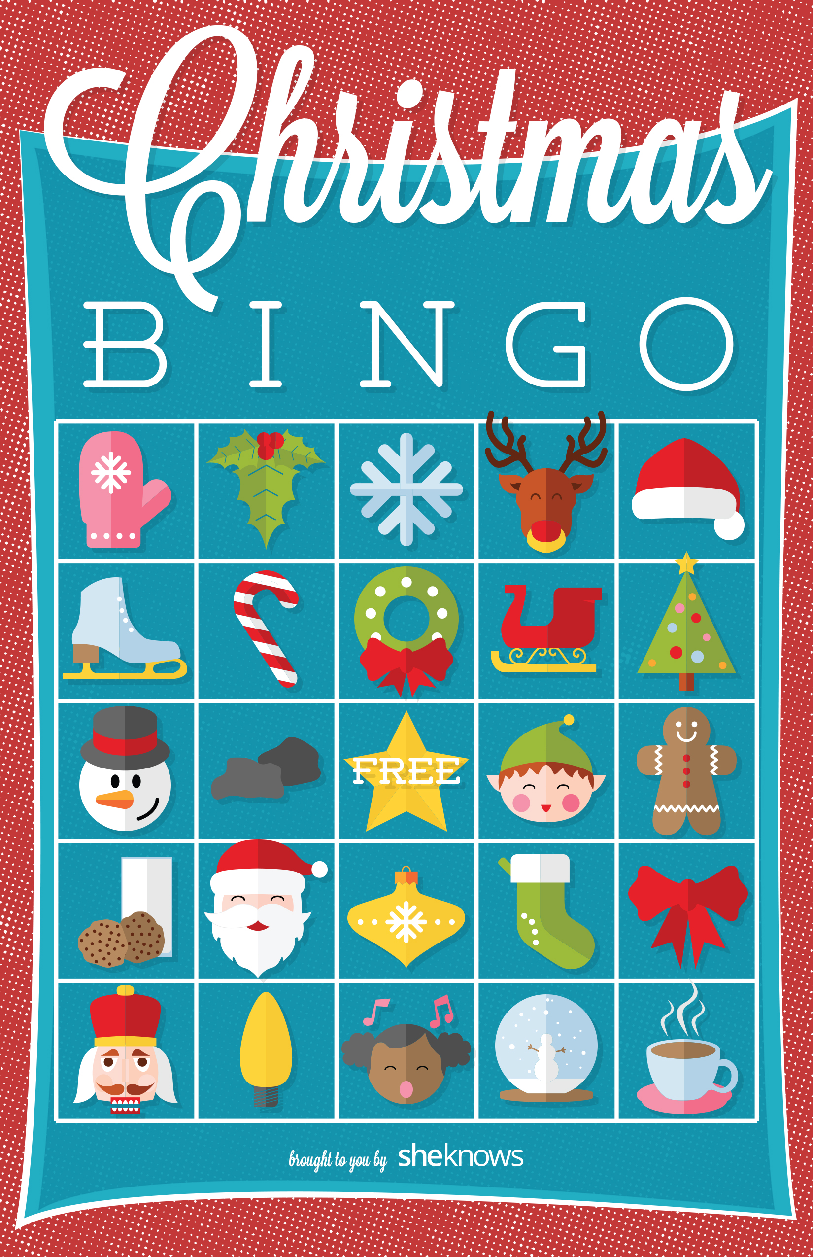 photograph about Free Printable Christmas Bingo Cards identified as Xmas bingo match printable with 3 twists upon the