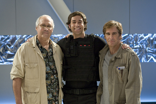 Chevy Chase, Zach Levi and Scott Bakula on Chuck