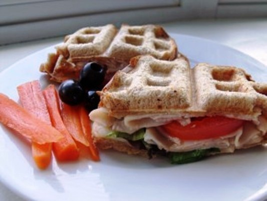 Freshly Pressed Waffle Sandwiches