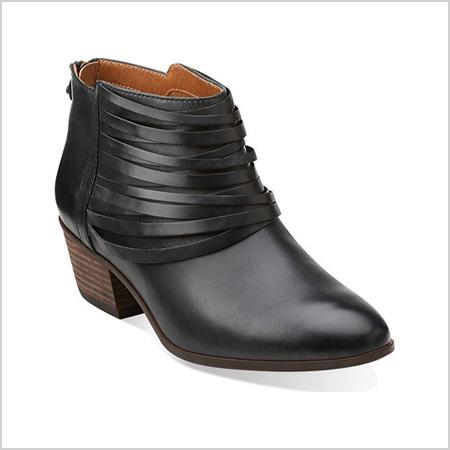Clarks Spye Celeste Bootie in Black (shoebuy.com, $130)