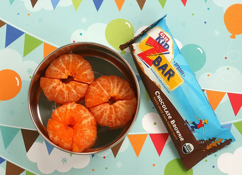 Clementines and chocolate bars