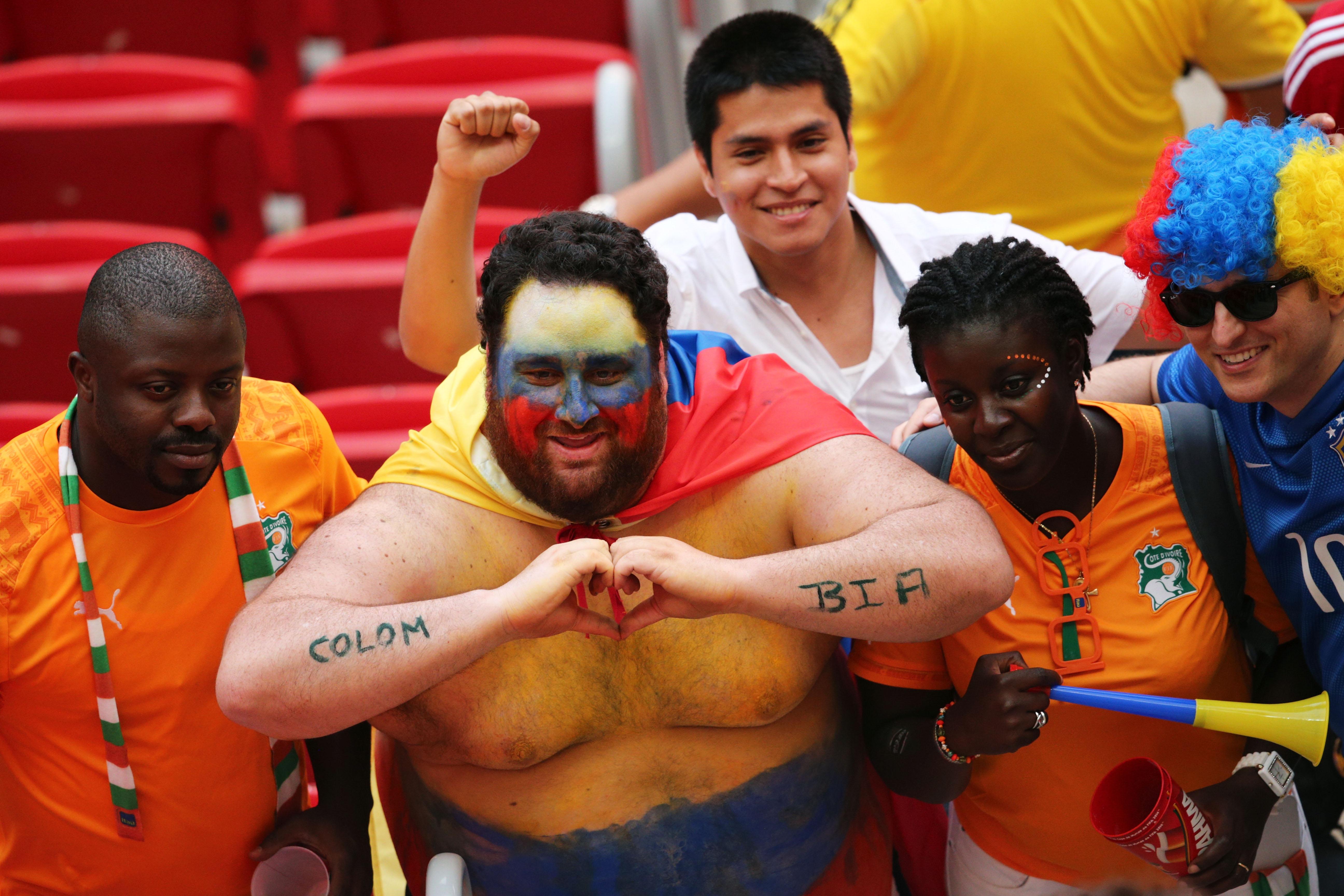 Columbia fan, World Cup 2014