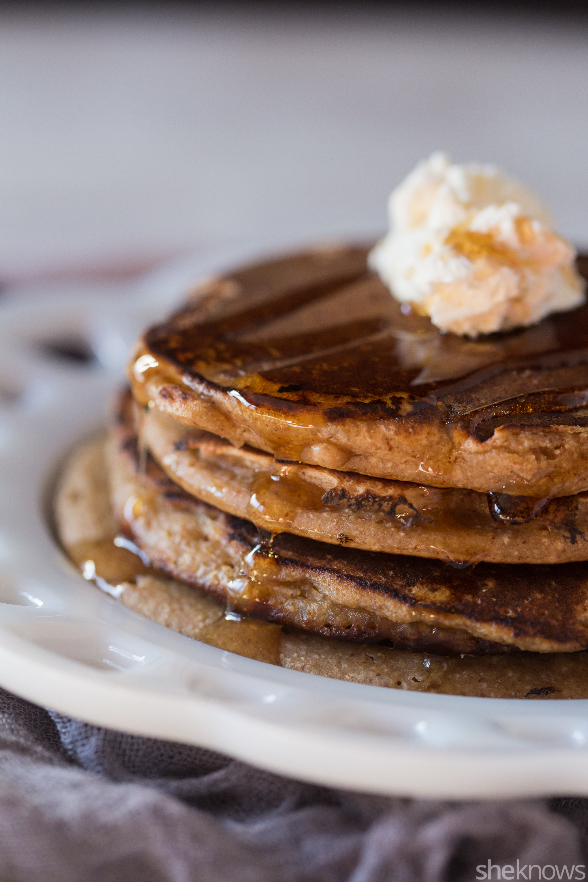 Delicious copycat IHOP grain and nut pancakes