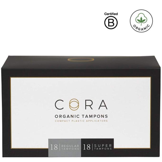 Cora Variety Pack - Regular/Super - Organic Cotton Tampons