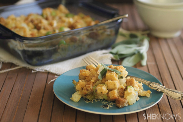 Lower-fat cornbread dressing