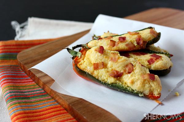 Cornbread jalapeño poppers