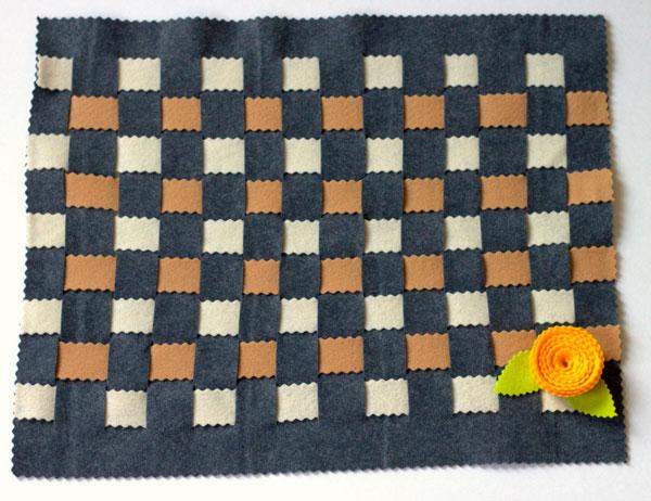 Woven felt place mat