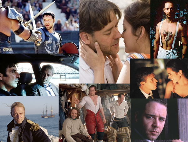 Clockwise from top: Gladiator, A Good Year, Romper Stomper, A Beautiful Mind, LA Confidential, Mystery, Alaska, Master and Commander and The Insider