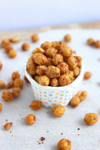 Crunchy roasted chick peas