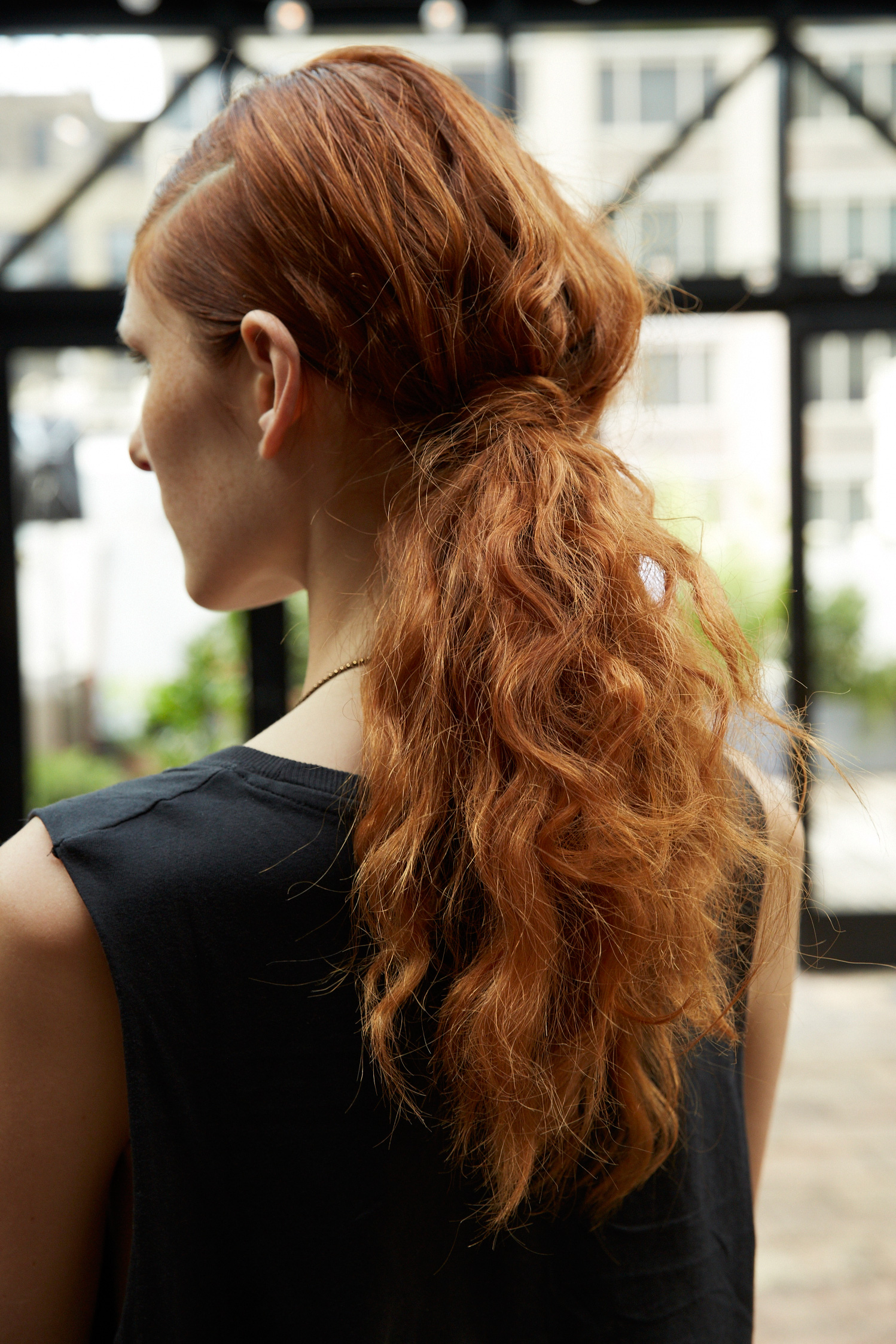 Curly ponytails