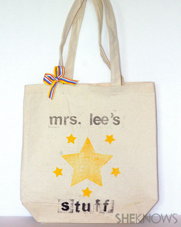 Cute and easy custom bookbag