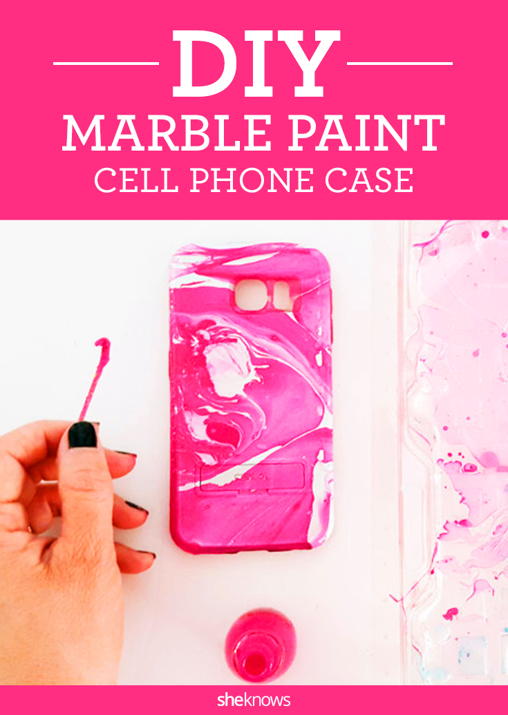 3 easy steps to make your own water marble cell phone case