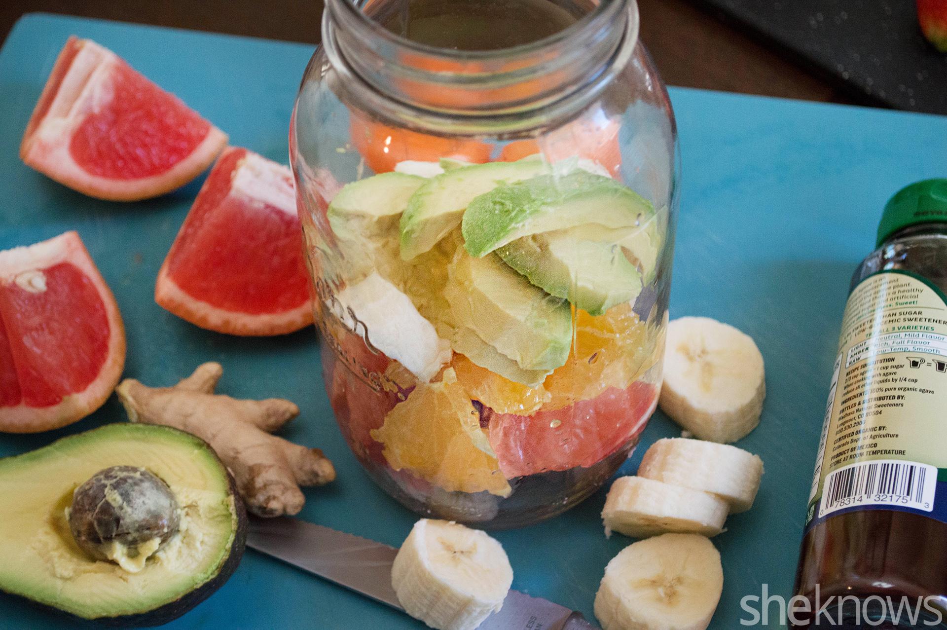 citrus avocado smoothie