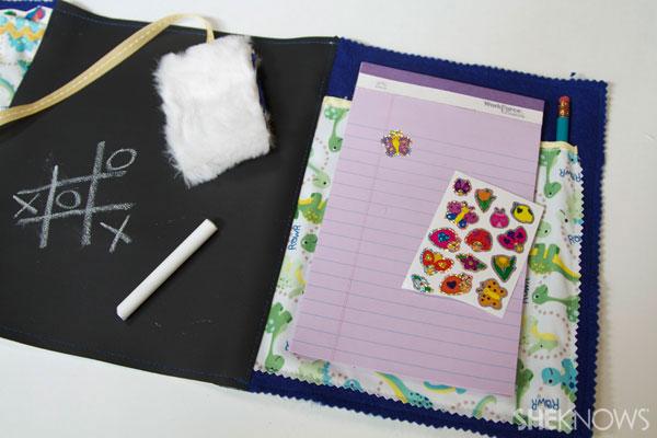 DIY Chalkboard lap mat for kids 7