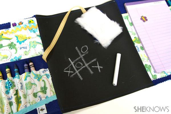 DIY Chalkboard lap mat for kids 8