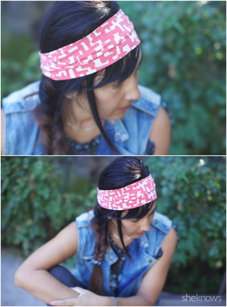 Simple DIY T-shirt headband 1