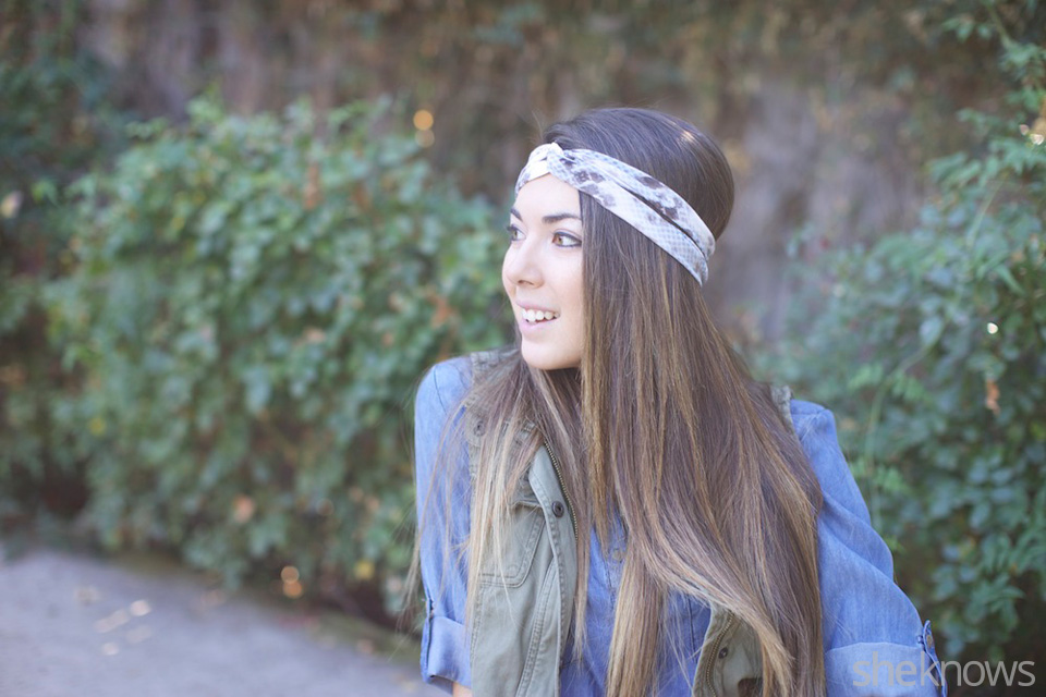 Headband with a twist