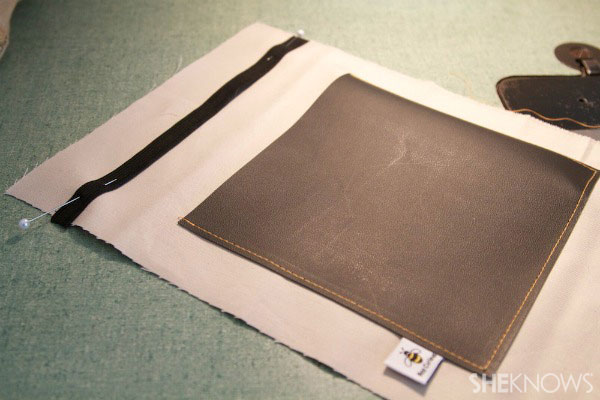 lined tablet cover with chalkboard pocket Step 2