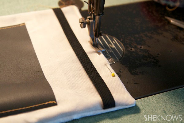 lined tablet cover with chalkboard pocket Step 5
