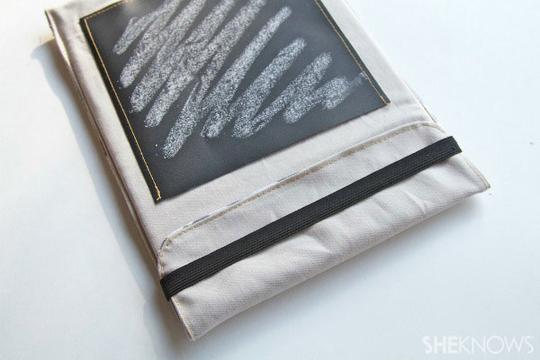 lined tablet cover with chalkboard pocket Step 7