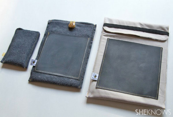 lined tablet cover with chalkboard pocket Step 8