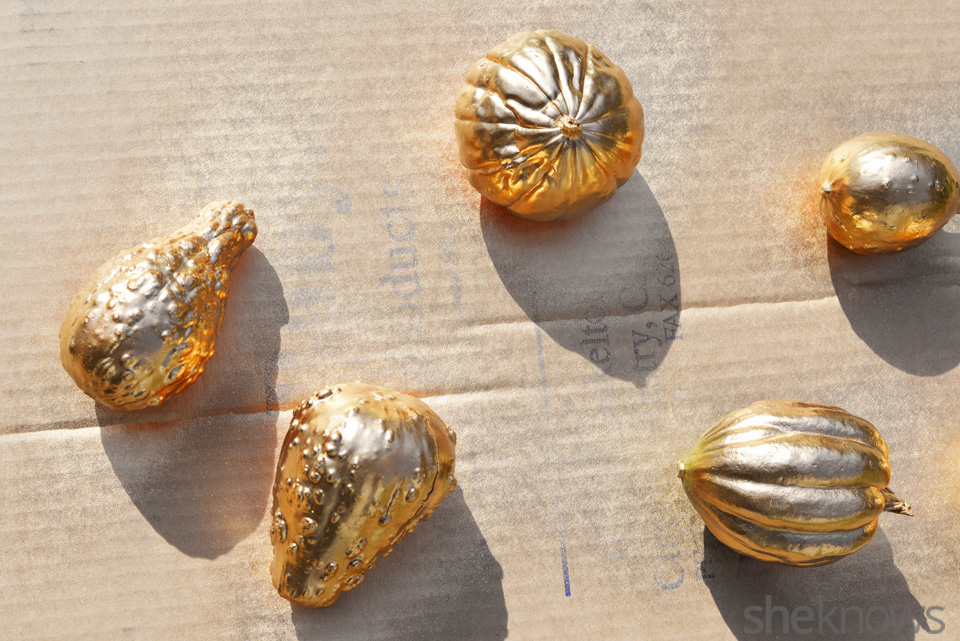 gold gourds placeholders: Step 2