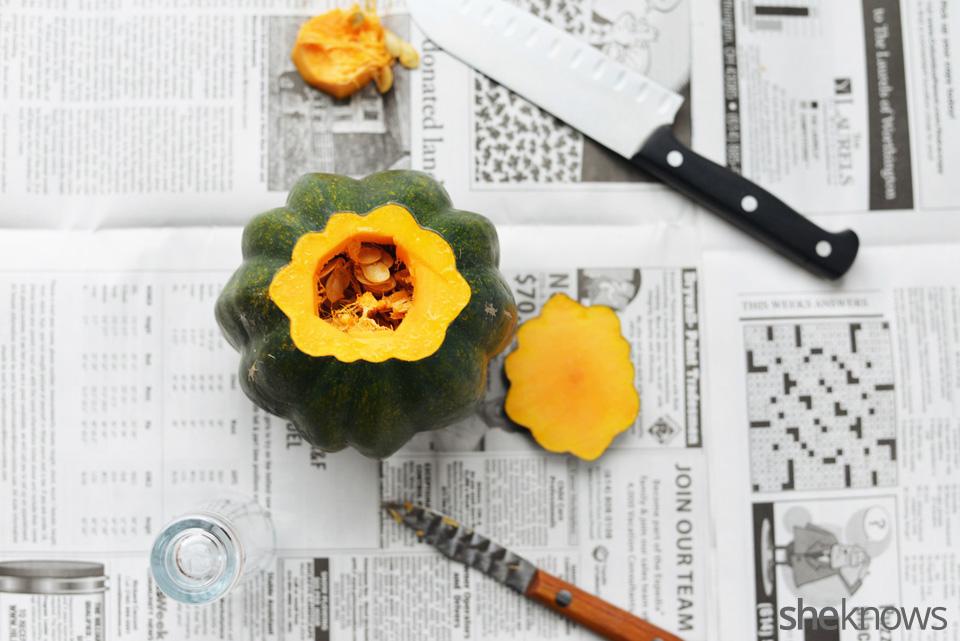 DIY gourd vases: Step 2