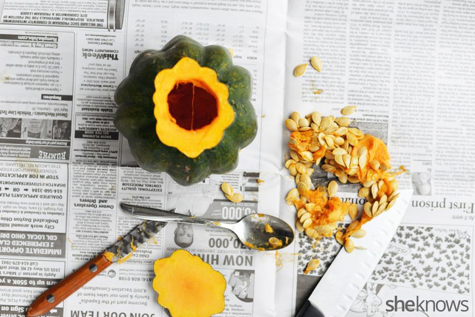 DIY gourd vases: Step 3