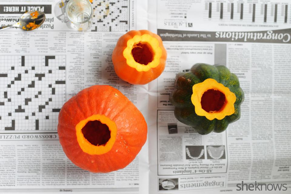 DIY gourd vases: Step 4