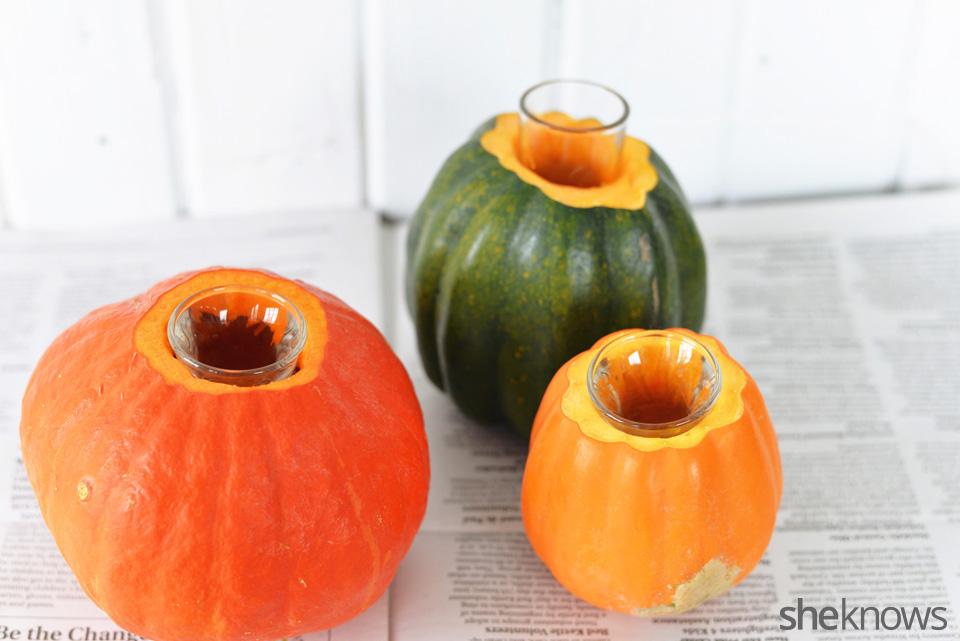 DIY gourd vases: Step 5