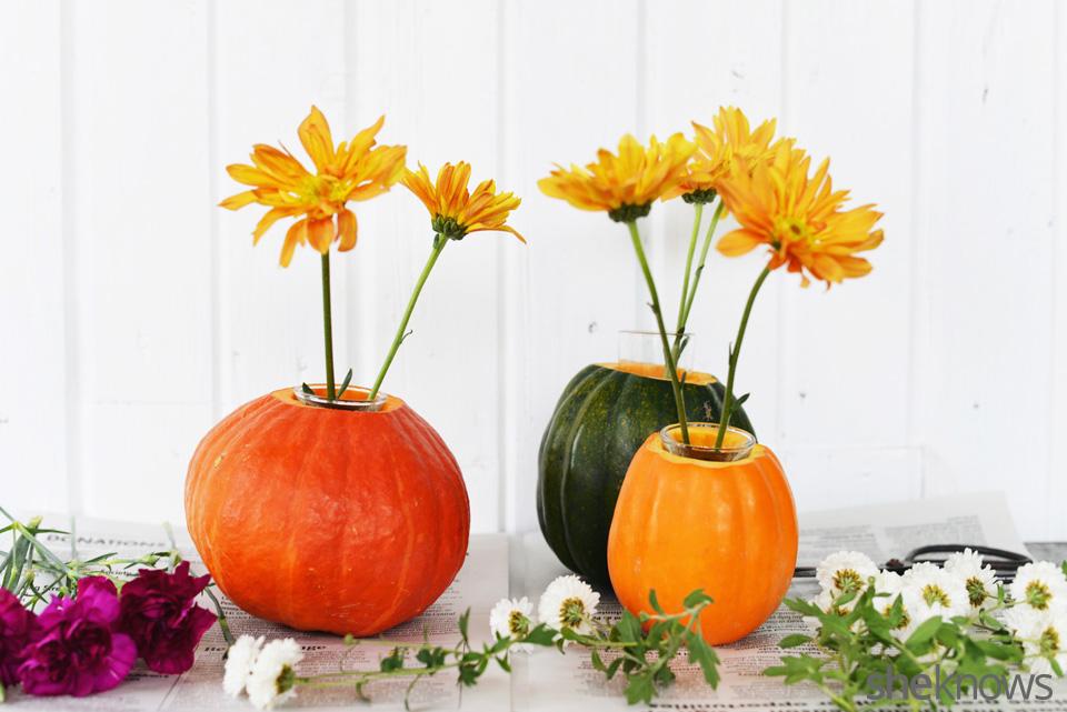 DIY gourd vases: Step 6