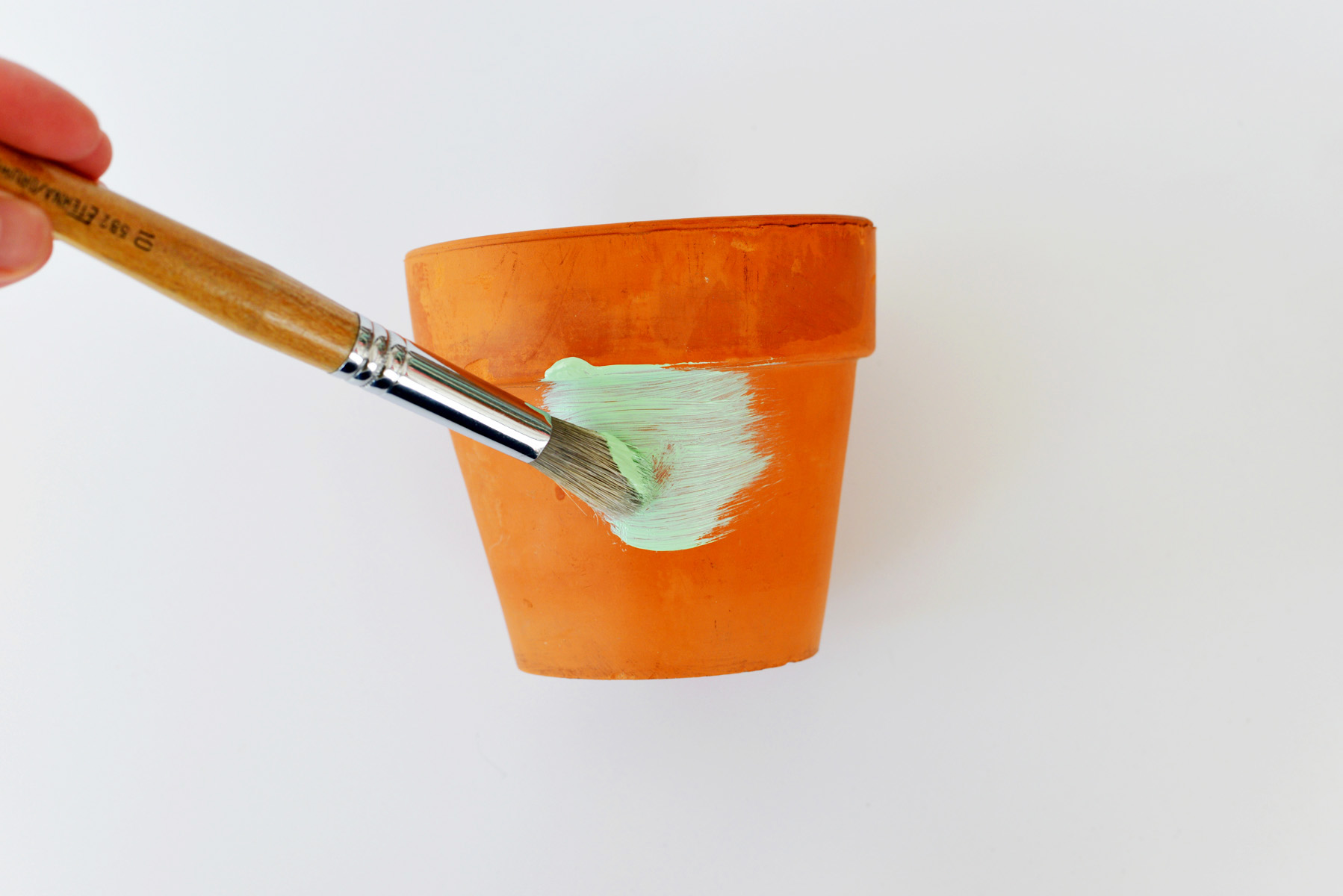 Add paint to pots