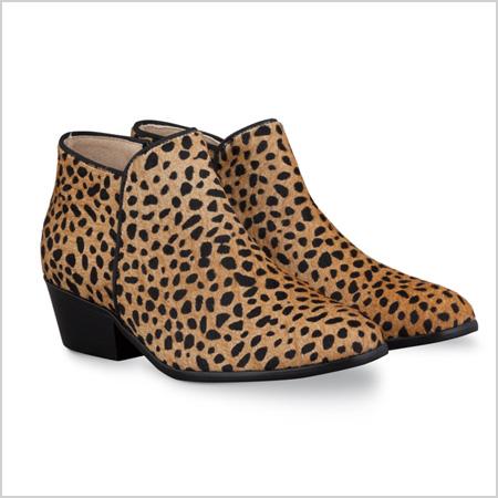 DUO Mandel Ankle Boot in Cheetah Calf Hair